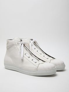 Alexander McQueen Men's Leather High Top Sneaker. All Stars