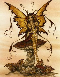 Fairy Art by Amy Brown - Four Seasons - Autumn Tranquility Elves Fantasy, Fantasy Art, Amy Brown Fairies, Dark Fairies, Dragons, Fantasy Cross Stitch, Fairy Pictures, Fantasy Pictures, Unicorns And Mermaids