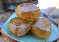 Honey Calcite Healing Crystal Works On All Chakras by OneWithGems