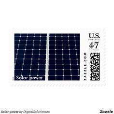 Solar power postage stamp
