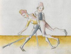Lecküchner, Hans: Kunst des Messerfechtens Nordbayern, 1482 Cgm 582 Folio 155