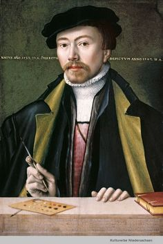 """Ludger d. J. Tom Ring"", Selbstbildnis, 1547, Ludger d. J. Tom Ring (1522 - 1584)"
