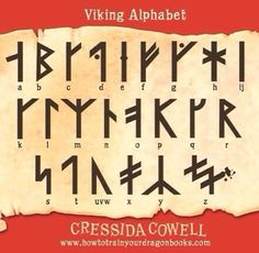 "195qute-white-dragon: ""The Viking Alphabet "" See my other reblog. This rune set is more likely to be a medieval extended Danish furthark. And its likely that there is no such thing as a Viking Alphabet."