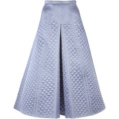 Temperley London Dragon Quilted Silk Skirt (30.860 ARS) ❤ liked on Polyvore featuring skirts, blue, silk skirt, temperley london, a-line skirt, silk a line skirt and temperley london skirt