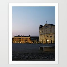 Palmanova, Northeastern Italy, Town, Piazza, Cathedral, Republic of Venice, Sunset, Late Spring, Blue Sky, Ideal City, Landscape, Late Renaissance Architecture