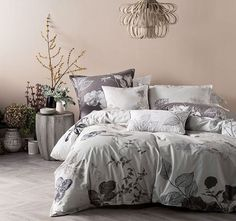 Grandly designed with vintage florals and divine cotton, the Ari Quilt Cover Set from Marie Claire exudes femininity in your bedroom sanctuary. Bed Linen, Linen Bedding, Duvet, Furniture Decor, Living Room Furniture, Modern Furniture, Love Your Home, Ideal Home, Bed Rug