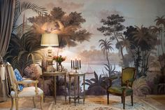 """""""The Ace Picks"""" Nine Favorite Tropical Wallpapers Ananbo – Papiers Peints Panoramiques Scenic Wallpaper, Tropical Wallpaper, Wall Wallpaper, Decoration Surf, Surf Decor, British Colonial Decor, Chinoiserie Wallpaper, Bedroom Murals, Bedroom Wall"""