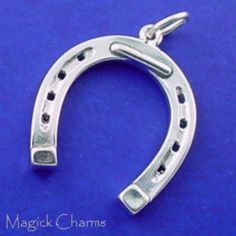 16 X 7 MM ONE STERLING SILVER SEA HORSE CHARM PENDANT OPEN JUMP RING