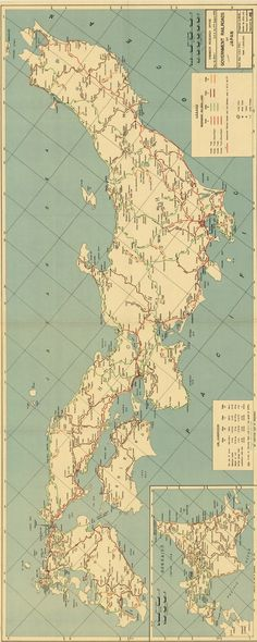 Japan 1945 (reoriented). Government railroads of Japan / U.S. Army Corps of Engineers. American Geographical Society Library Digital Map Collection