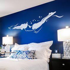 Etiqueta de la pared del Freestyle nadador - etiqueta engomada del nadador, nadador etiqueta, regalo para el nadador, natación arte, decoración de la piscina, deportes Wall Decal Sticker