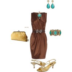 Brown, Gold and Turquoise