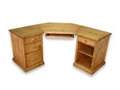 Rohový psací stůl ze smrkového dřeva Mexicana 2