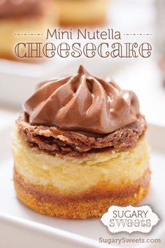 Mini Nutella Cheesecakes