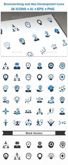 Brainstorming and Idea Development Icons - Business Icons