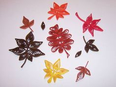 Falling Autumn Leaves - Quilled Creations Quilling Gallery