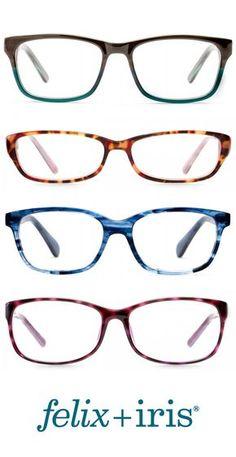 4 Gorgeous Colorful Frames for Round Faces   felix + iris glasses