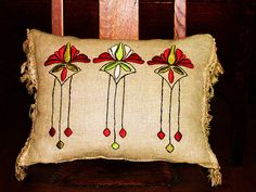 Arts & Crafts period pillow by ARTANTIQ, via Flickr