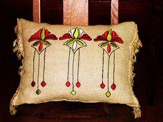 Arts & Crafts period pillow by ARTANTIQ, via Flickr