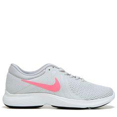 b0c499028356 Nike Women s Revolution 4 Running Shoes (Grey Platinum Pink) Nike Women