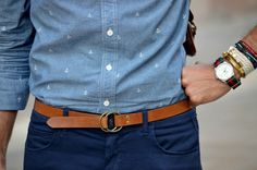 Thin belt, Fifty Shades of Blue, Anchors, and a Decked out Wrist. Definitely on my To Do list.