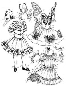 fairy paper doll with dress