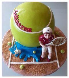 tennis ball cake: Edite Santos ● Marília Santos