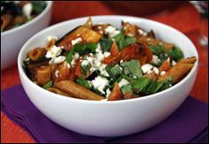 HG's Chunky Eggplant Penne for Two