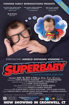 Baby Boy Superman Movie Poster Birth Announcement