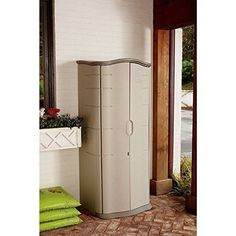 Vertical Outdoor Storage Cabinet   Outdoor Storage Shed | EBay This Vertical  Outdoor Storage Shed Features