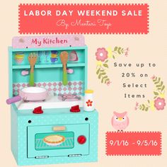 LABOR DAY WEEKEND SALE - hurry and stock up on gifts for your loved ones. #woodentoys #imaginativeplay #sustainablematerials #naturalwoodtoys #toddler #toys #labordaysale