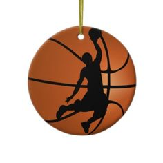 SOLD! ~ Slam Dunk #Basketball Player Christmas Ornament by #gravityx9 shipping to Buffalo, WY #sporty
