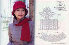 Crochet Beanie, Knitted Hats, Crochet Hats, Crochet Diagram, Crochet Patterns, Love Crochet, Knit Crochet, Wool Thread, Summer Hats