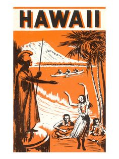 Hawaiian Travel Ads (Vintage Art) Poster at AllPosters.com