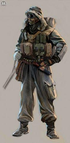 Stalker Original concept art for Metro 2033