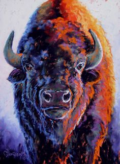 Thundering Herd Marshall University Football Mascot Marco the Buffalo inspiration Buffalo S, Buffalo Animal, Native Art, Native American Art, Bison, Buffalo Painting, Cow Art, Wildlife Art, Western Art