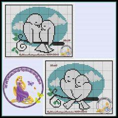 C2c, Peanuts Comics, Cross Stitch Bird, Animals, Birdcages, Little Birds, Couple, Cross Stitch Heart, Needlepoint