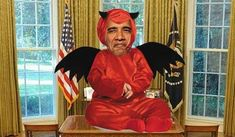 Does the Devil Have a Little Helper in the White House? 1/26/14 The question of this essay, whether Barack has satanic characteristics, does not really depend upon whether Satan exists. Because whether as a literal figure, or simply as a literary device, there are certain devilish QUALITIES which are HIDEOUS and HIGHLY DESTRUCTIVE WHEN ANY PERSONALITY BEARS THEM. And Barack seems to carry virtually all of these traits.