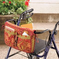 Wheelchair & Walker Carryall & Carrier Bag Pattern...need to make one of these for my dad.