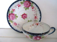 Vintage cup and saucer delicate china by vintageboxofdelights, $15.00