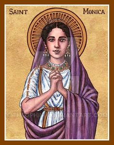 St. Monica icon by Theophilia