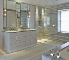 Luxury master bathrooms digisquad co 10 modern luxury master bathroom ideas luxury modern master bathrooms luxury master bathroom design ideas luxury master Design Ideas [. Luxury Master Bathrooms, Modern Master Bathroom, Dream Bathrooms, Beautiful Bathrooms, Master Bedroom, Small Bathroom, Bathroom Towels, Bathroom Cabinets, Grey Marble Bathroom