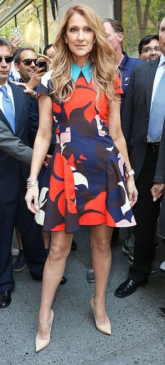 Celine Dion in Delpozo outside the 'Today' show in NYC. #bestdressed