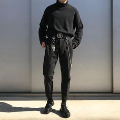 Edgy Outfits, Mode Outfits, Grunge Outfits, Fashion Outfits, Indie Fashion, Streetwear Fashion, Korean Fashion Men, Mens Fashion, Fashion Guide