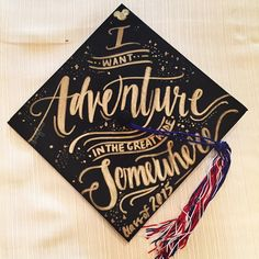 Graduation Gifts Disney graduation hat I made for my graduation! A quote from Beauty and the Beast. Disney Graduation Cap, Graduation Cap Designs, Graduation Cap Decoration, High School Graduation, Graduation Pictures, College Graduation, Graduation Gifts, Graduation Ideas, Preschool Graduation