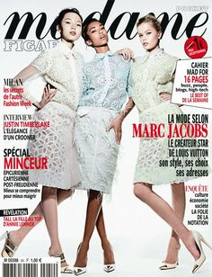 ASIAN MODELS BLOG: MAGAZINE COVER & EDITORIAL: Xiao Wen Ju for (France) Madame Figaro, March 2012
