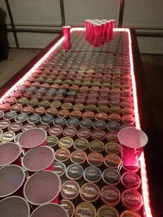 dip cans decorations Diy Craft Projects, Wood Projects, Projects To Try, House Projects, Redneck Crafts, Homemade Beer, Cooler Painting, Beer Pong Tables, Do It Yourself Crafts