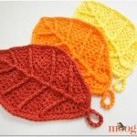 Happy Autumn Leaves - free #crochet pattern on Mooglyblog.com! These are great…