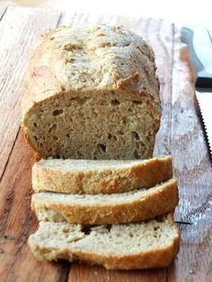 Yeast-Free Paleo Sandwich Bread (nut-free, coconut-free) | Cook It Up Paleo. Cassava flour. I don't know if is ever buy this but if I did I might try this recipe. Looks good
