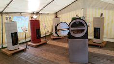 Diverse uitvoeringen van de Keumalit Bremer Grundofen en de Keumalit Grill op de Herfstfair in Waltrop Duitsland.