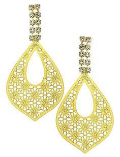0a1694bebdb Fashion for Girls - Jóias  Brinco folheado a ouro c  pedras de strass e  adorn.